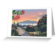 Great Barrier Island - Road to Leigh Greeting Card