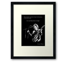 Conor Oberst -  Let's just hope that is enough Framed Print