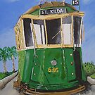 St. Kilda Tram by Bradyink