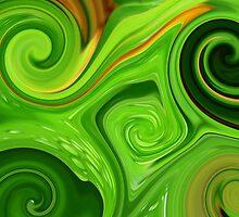 Swirls of Green by Angela Gannicott