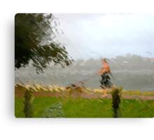 7/5 walking in the rain Canvas Print