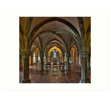 Crypt, Rochester Cathedral, Kent, England Art Print