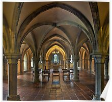 Crypt, Rochester Cathedral, Kent, England Poster
