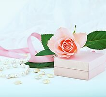 Pretty pink roses, pearls, ribbon and lace. by torishaa