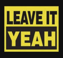Leave It Yeah (Yellow) by Sam Stringer