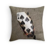 My Luck is Running Out. Throw Pillow