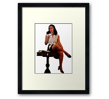 Geeky Pin-Up: Chess Framed Print