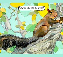 Crackers the Tree Cat Annoyed Squirrel by Cameron Hampton