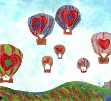 Balloons Over Wine Country (Mixed Media) by Niki Hilsabeck