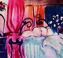 My restful hideaway, watercolor by Anna  Lewis