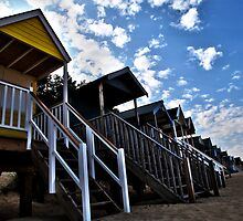 Beach Huts by Paul Knowles
