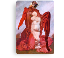 Virgin Mary Pregnant with Christ Child. Canvas Print