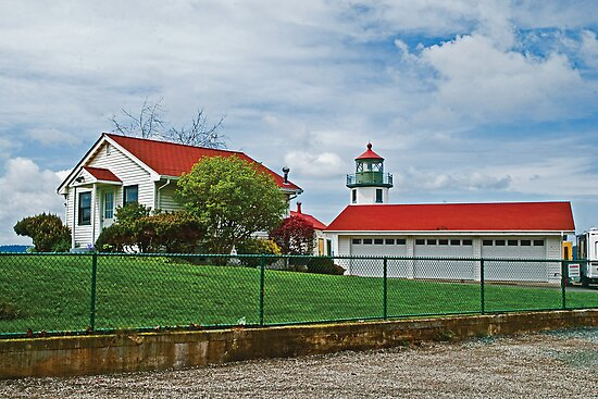 The Alki Point Lighthouse, Seattle Washington USA by Bryan D. Spellman