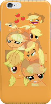 Applejack Faces (I-Pod touch) by Legolord99