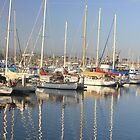 157-Ventura Harbor boats by Tedd Wenrick