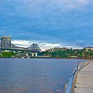 Brisbane River floating boardwalk Australia by PhotoJoJo