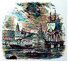 River Traffic at Greenwich, London circa 1800 Photographic Print