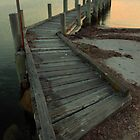 Jetty Flinders Island by Andrew  Makowiecki