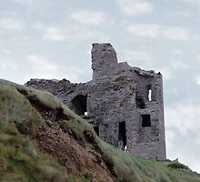 old castle ruin ballybunion by morrbyte