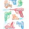 Watercolor Waterguns by ianleino