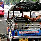 Lazy Tuk Tuk Driver in Bangkok by skellyfish