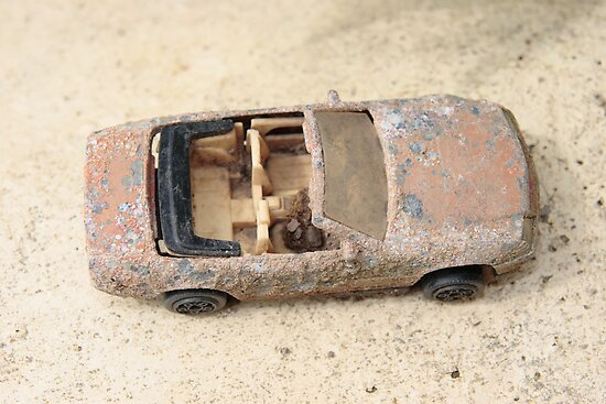 rusty classic car by morrbyte