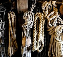 Ropes and other stuff on the Batavia, Lelystad The Netherlands by M. van Oostrum