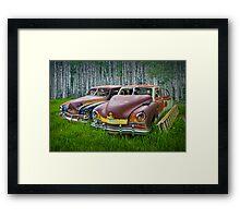 Vintage Frazer Auto Wrecks Framed Print