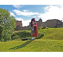 Piper at Urquhart Castle Photographic Print