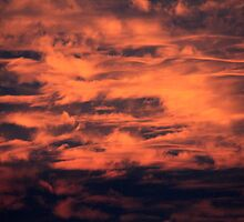 Flaming clouds by Maree Costello