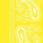 Yellow and White Paisley Bandana   by ShowYourPRIDE
