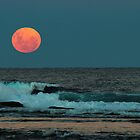 Moon rise over Long Reef by Gary Blackman