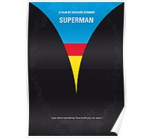 No086 My Superman minimal movie poster Poster