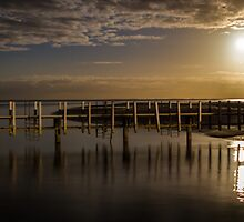 Full Moon - Monkey Mia - WA by Frank Moroni