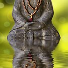 Buddha and green reflections by Delphimages
