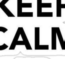Keep Calm and Carrion Sticker