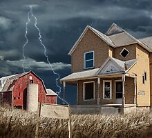 Decline of the Small Farm number 6 version 2 by Randall Nyhof