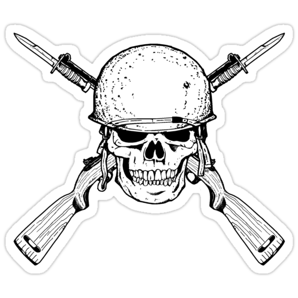 WW II M1 Carbine Jolly Roger by ZugArt