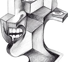 synthetic cubist portrait by cuboy67
