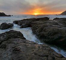 Big Sur Sunset by Stephen Vecchiotti