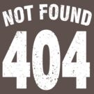 Team shirt - 404 Not Found, white by JRon