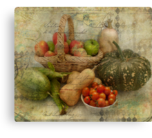 Fresh from the Garden Canvas Print