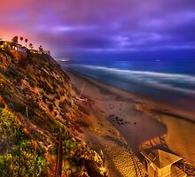 Encinitas at Night by jswolfphoto