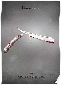 Sweeney Todd - blood serie by guillaume bachelier