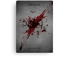 Gladiator - blood serie Canvas Print