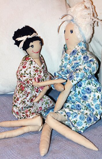 Girls Chatting in pretty dresses! iphone case by Lynn Ede