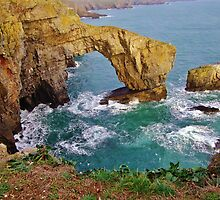 The Green Bridge of Wales, Pembrokeshire by Paula J James