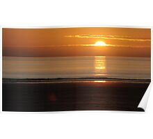 Sunset over Woolacombe Bay Poster