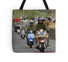 Scooters on the Seafront Tote Bag