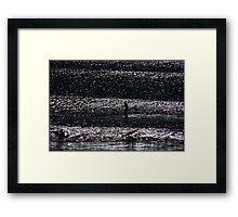 On a Shimmering Sea Framed Print